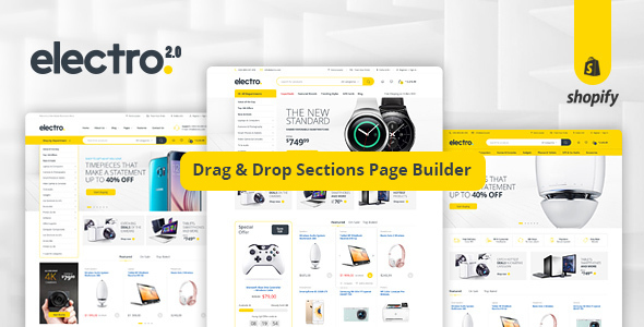 Image of Electro - Gadgets & Digital Responsive Shopify Theme