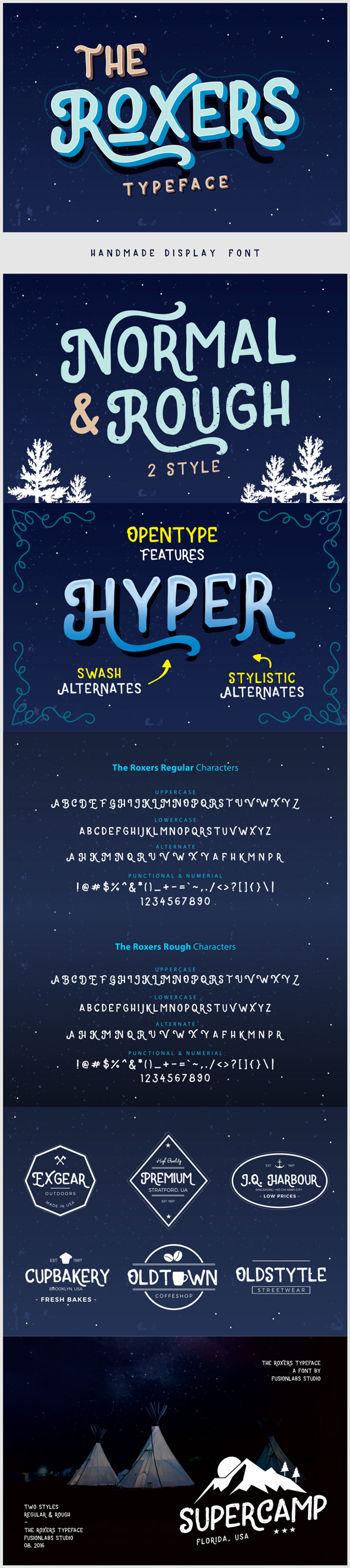 The Roxers Typeface - Handwriting Fonts