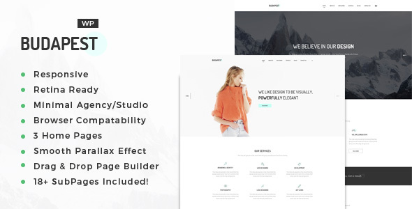ThemeForest Budapest Minimal Multi-Purpose Portfolio WordPress Theme 19717637