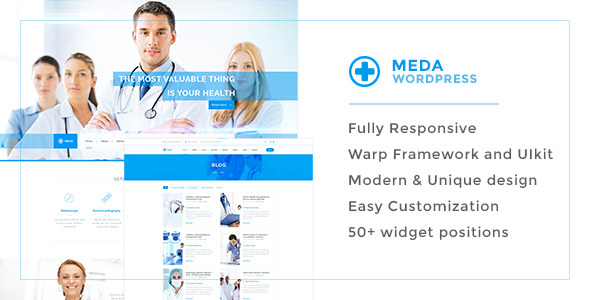 Meda — Health and Medical Responsive WordPress Theme For Hospitals, Doctors, Clinics & Blogs