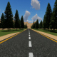 Forest highway empty road - VideoHive Item for Sale