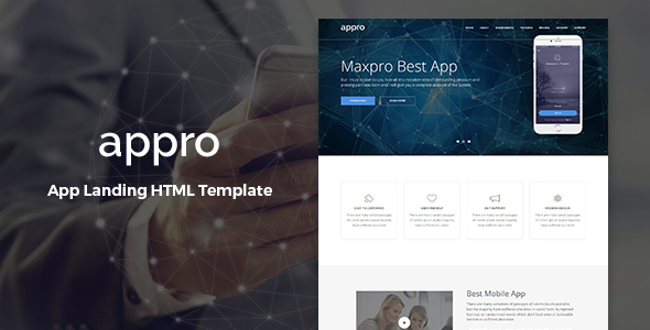 Appro – Multipurpose Landing Page Template - Technology Site Templates