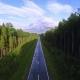 Empty Asphalt Road Trip Endless Road