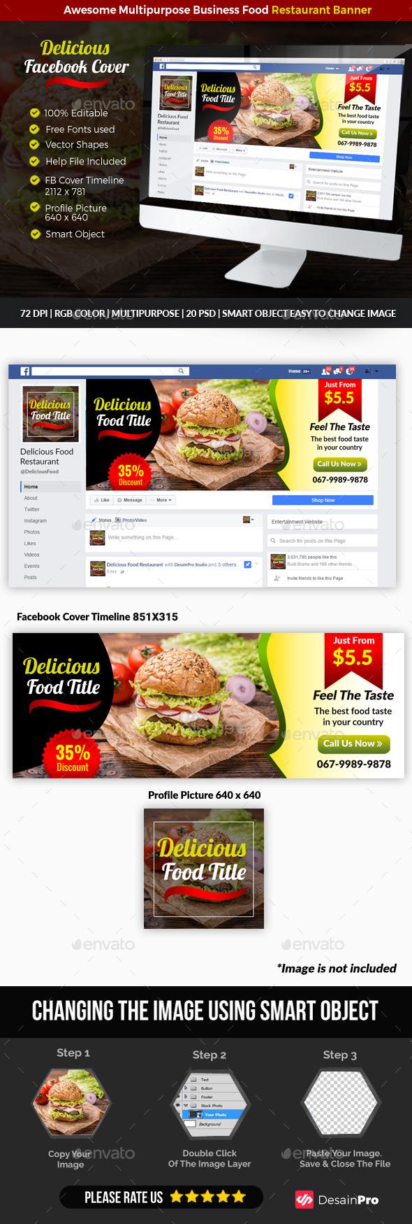 Restauran Food Facebook Cover - Facebook Timeline Covers Social Media