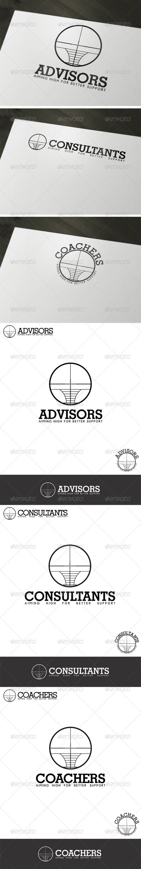 Advisors, Consultants, Coachers Logo Template - Vector Abstract