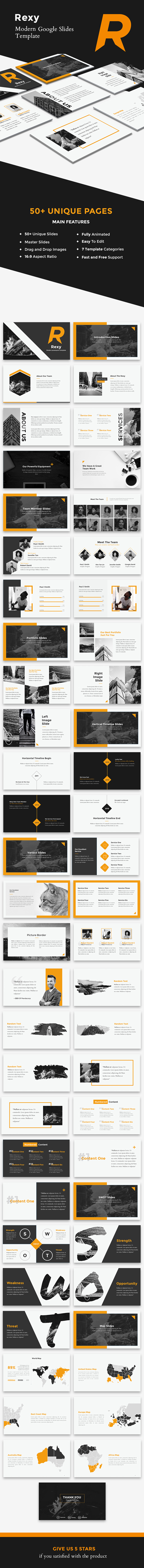 Rexy - Modern Google Slides Template by suavedigital | GraphicRiver