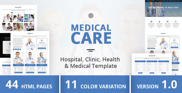 Medical Care – Hospital, Clinic, Health & Medical Template