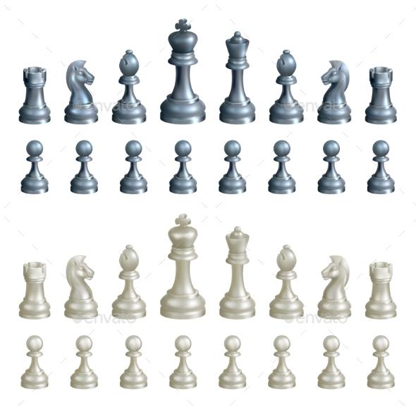 Chess Pieces Set - Miscellaneous Vectors