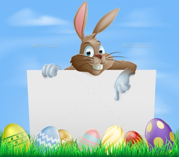 Chocolate Easter Eggs Sign - Backgrounds Decorative