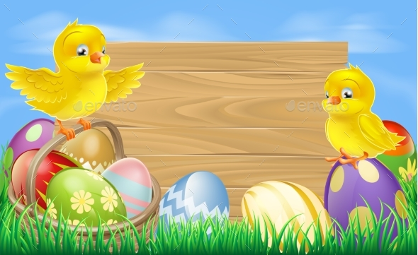 Easter Eggs Sign - Animals Characters