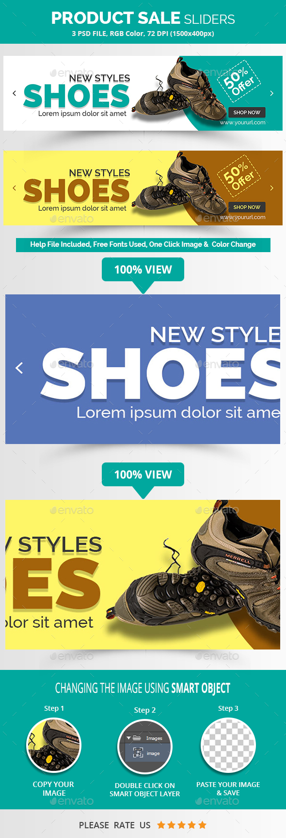 Product Sale Sliders - Sliders & Features Web Elements
