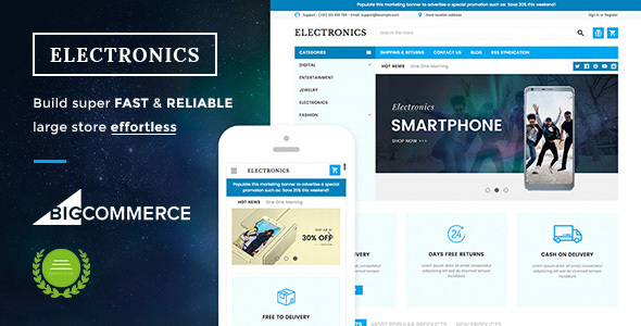 Electronics Supermarket Responsive BigCommerce Theme - BigCommerce eCommerce
