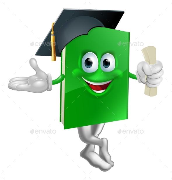 Graduate Education Book Mascot - Miscellaneous Characters