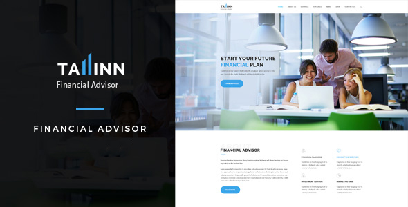 Tallinn Financial Advisor – Business and Consultancy HTML Template