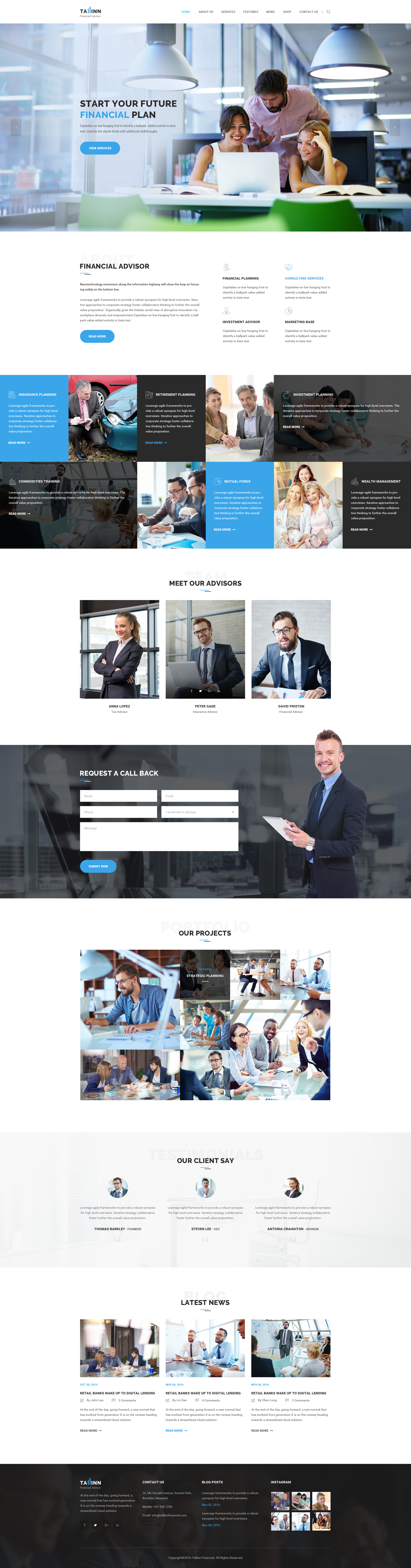Business Finance and Consultancy HTML Template - Tallinn by Themecraze