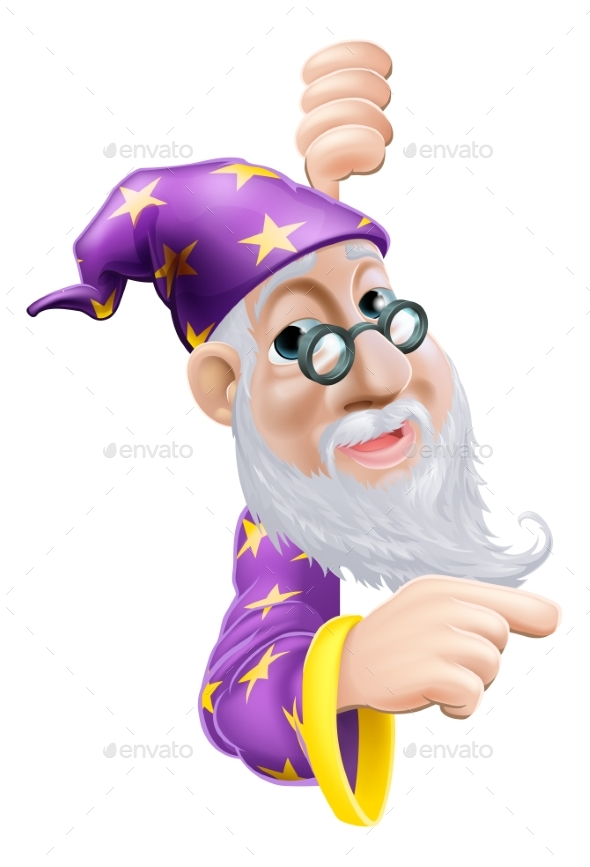 Wizard Pointing - People Characters