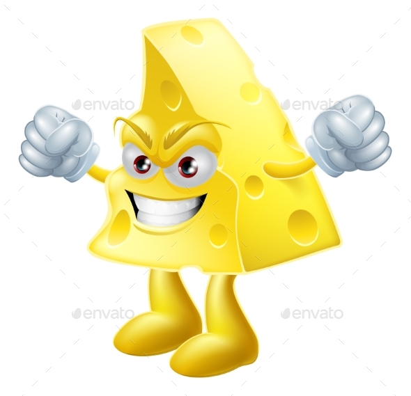 Angry Cheese Man - Food Objects