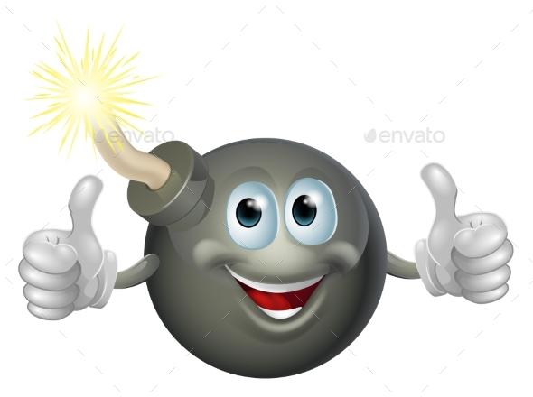 Cartoon Bomb Man - Miscellaneous Characters