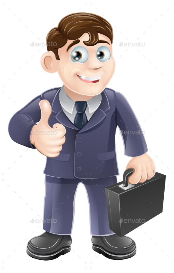 Man in Suit Thumbs Up Drawing - People Characters