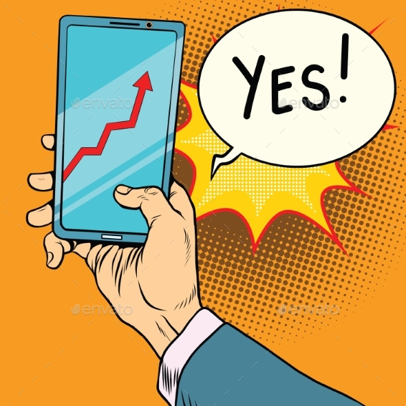 Phone Screen with the Schedule of Growth - Concepts Business