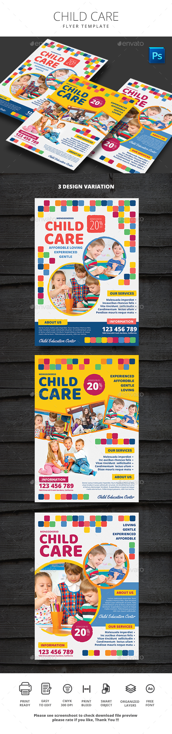 Child Care - Flyers Print Templates