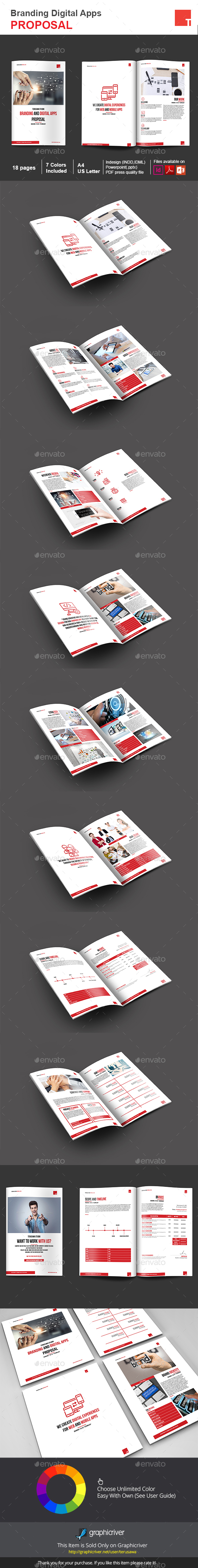 Branding Digital Apps Proposal - Proposals & Invoices Stationery