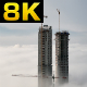 Skyscraper Constructions Rise Above the Clouds - VideoHive Item for Sale