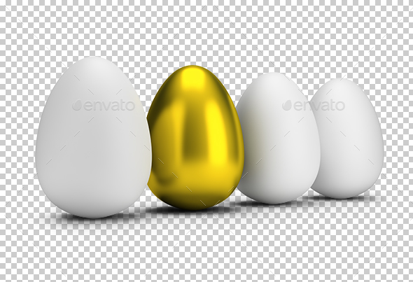One Golden Egg - Objects 3D Renders