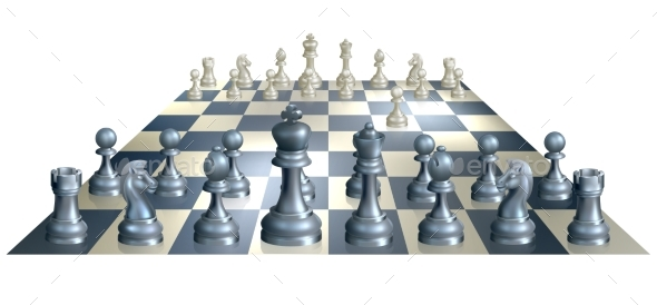 Game of Chess Illustration - Miscellaneous Vectors