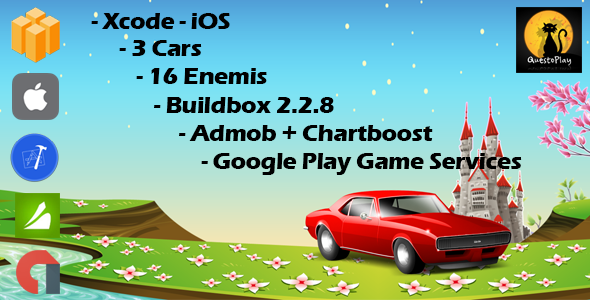 Car Speed Racing Game | iOS - Buildbox Included - Xcode Project - Easy Reskin - Multiple characters - CodeCanyon Item for Sale