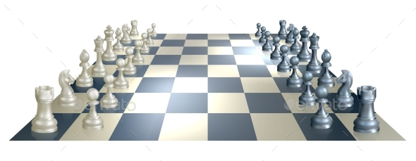 Chess Board and Pieces - Miscellaneous Vectors