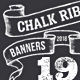 19 Chalk Ribbon Banners / Banner Set