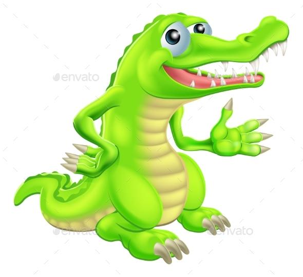 Cartoon Crocodile Illustration - Animals Characters