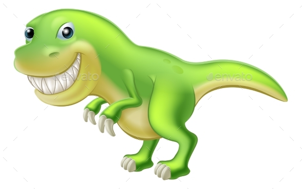 T Rex Cartoon Dinosaur - Miscellaneous Characters