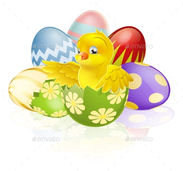Easter Chick in Egg - Animals Characters