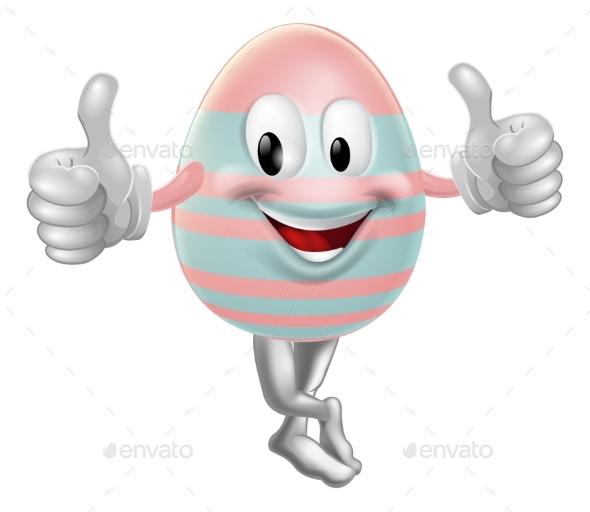Easter Egg Mascot Drawing - Miscellaneous Vectors