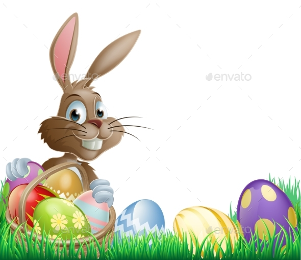 Isolated Easter Footer Design - Miscellaneous Seasons/Holidays