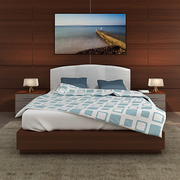 Bed model - 3DOcean Item for Sale