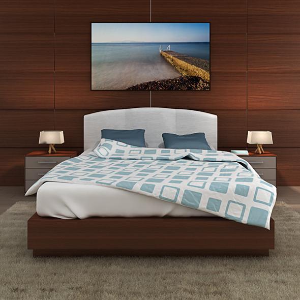 Bed model - 3DOcean Item for Sale