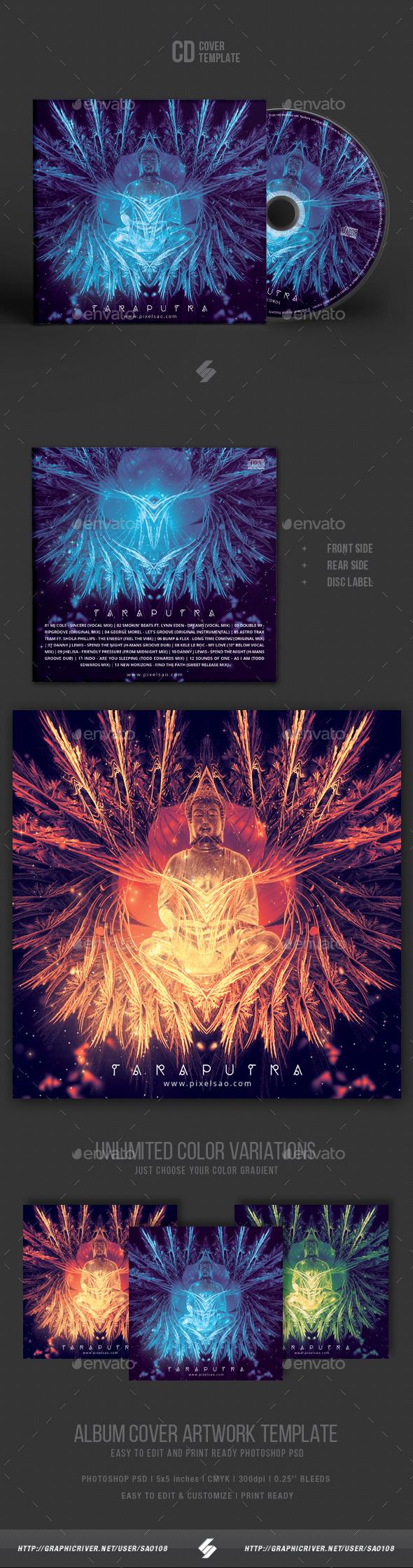 Taraputra - CD Cover Artwork Template - CD & DVD Artwork Print Templates