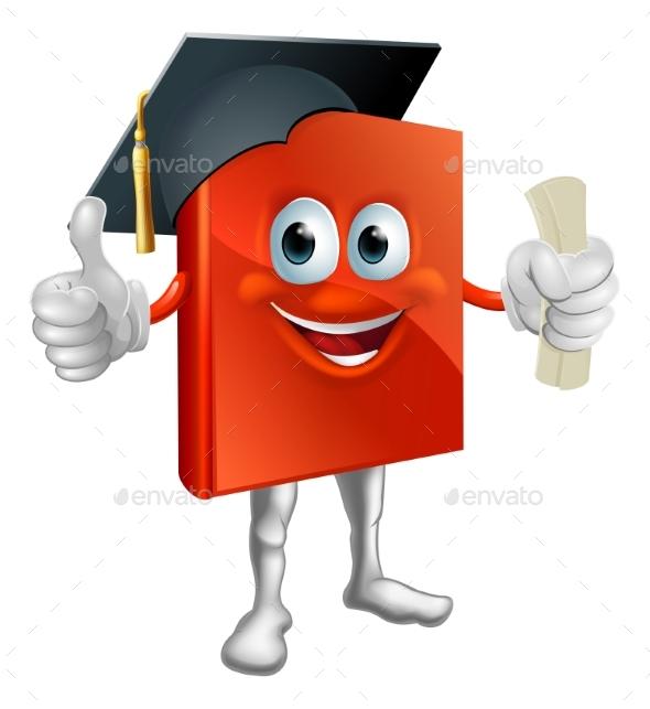 Graduation Book Mascot - Miscellaneous Vectors