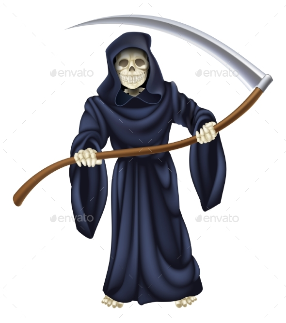 Grim Reaper Death Skeleton - People Characters