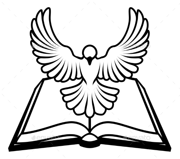 Christian Bible Dove Concept - Religion Conceptual
