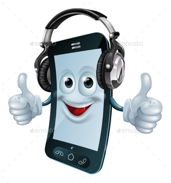 Headphones Cell Phone - Miscellaneous Characters