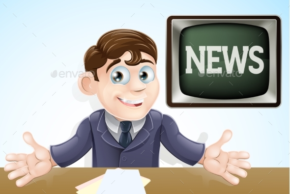 News Anchor Man - Media Technology