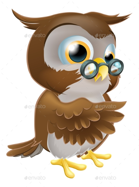 Pointing Owl - Animals Characters