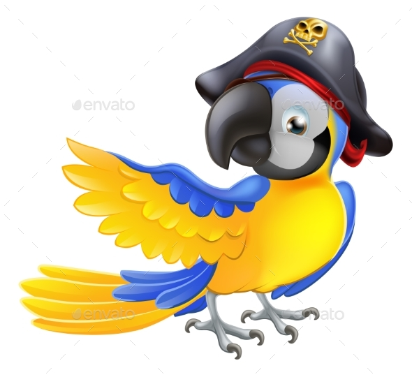 Parrot Pirate Character - Animals Characters