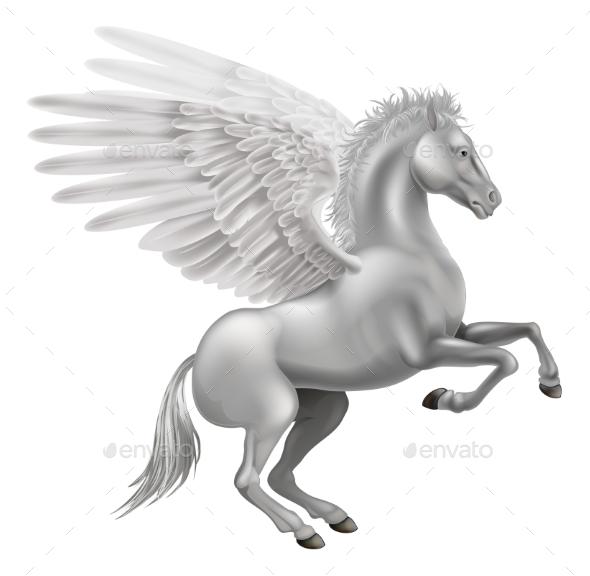 Pegasus Horse - Animals Characters
