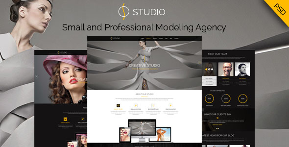 Creative Studio - PSD Template - Photography Creative