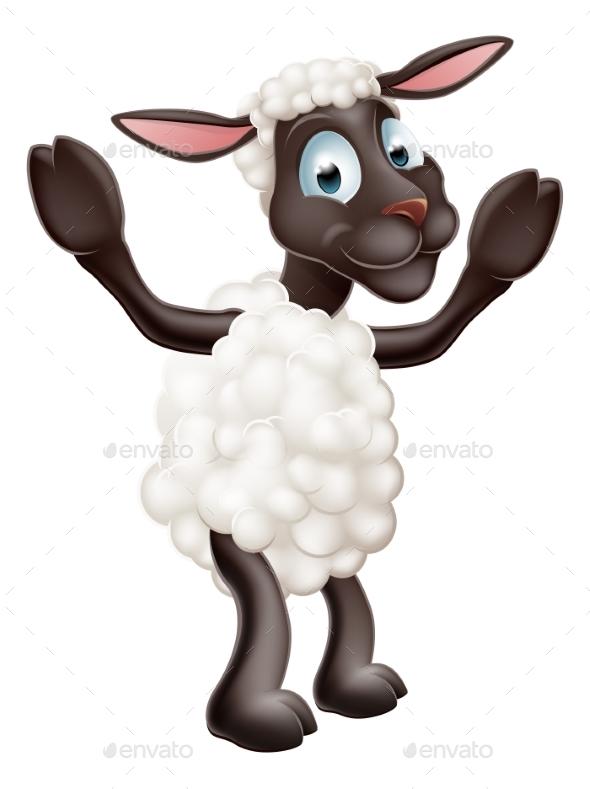 Sheep Cartoon Character - Animals Characters